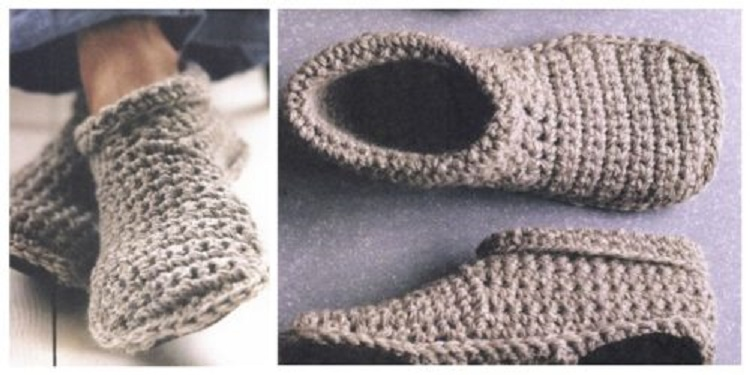 These Cozy Crocheted Slipper Boots Free Pattern