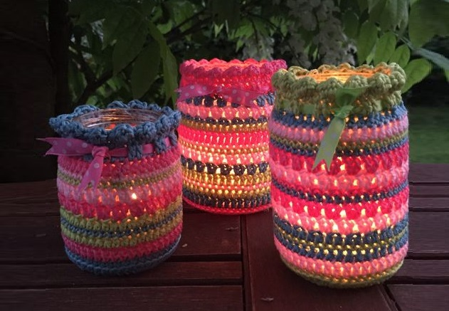 Crochet Mason Jar Cover (Free Pattern)