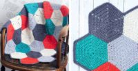 Happy Hexagons Free Crochet Afghan Pattern