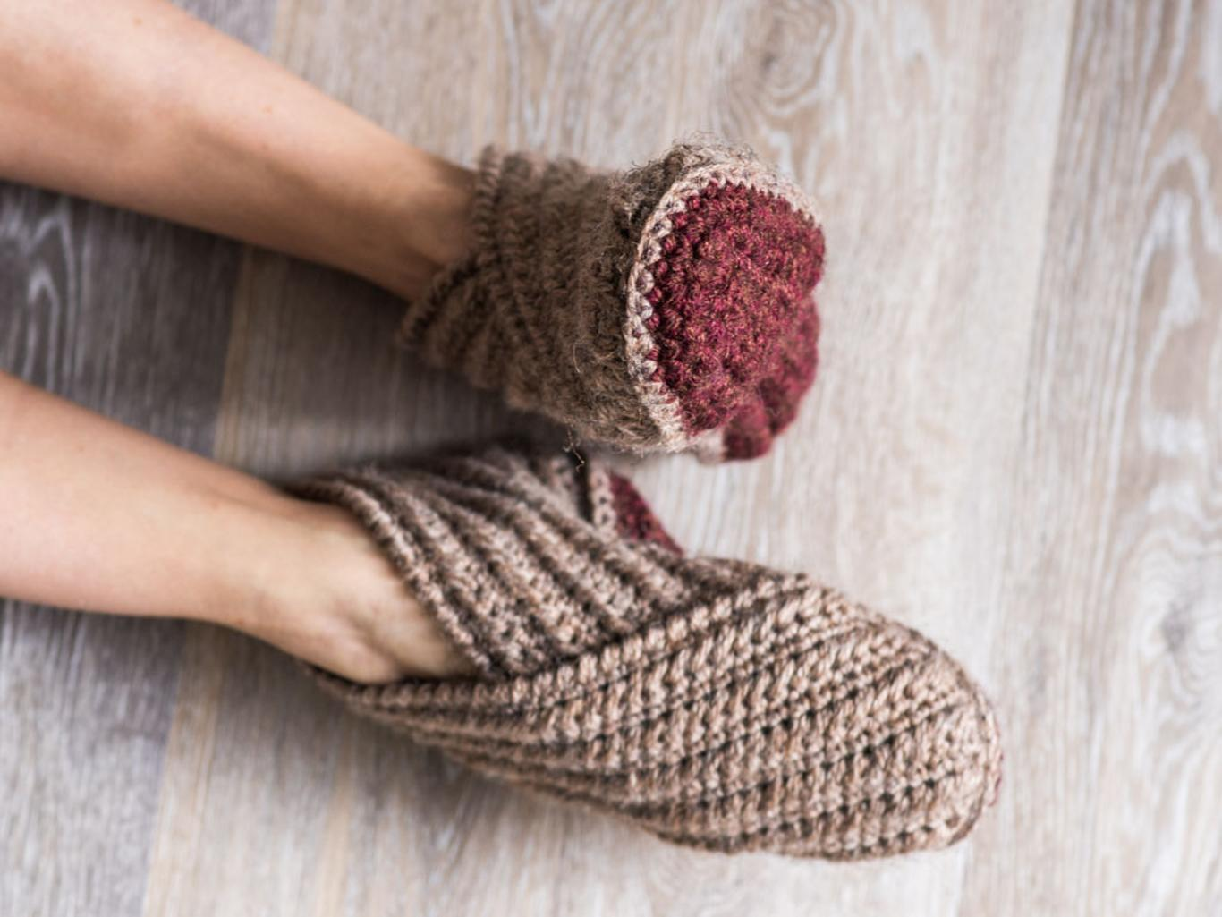 Crochet These Wrap Slippers Free Patterns 13