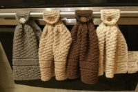 Knitted Hanging Kitchen Towels