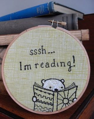 Sssh Reading Embroidery