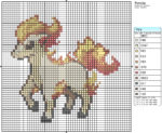 Ponyta Cross Stitch Pattern