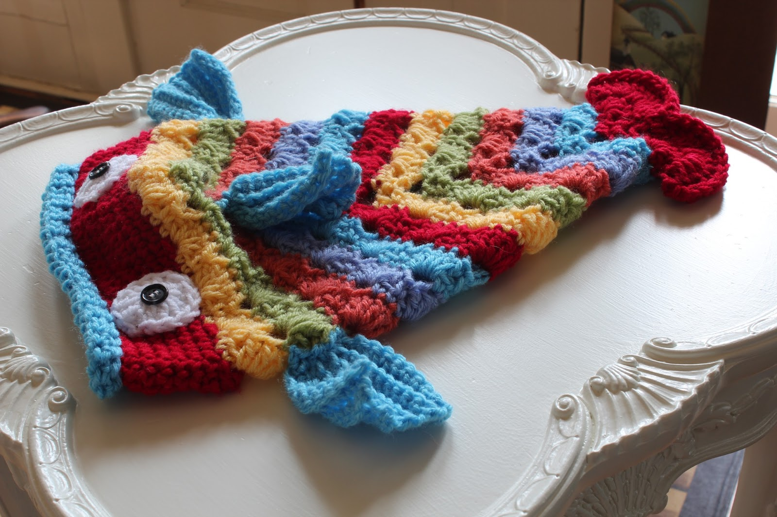 Knit Fish Toque (Free Pattern)