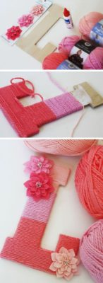 Yarn-Wrapped Monogram Letter - Make One