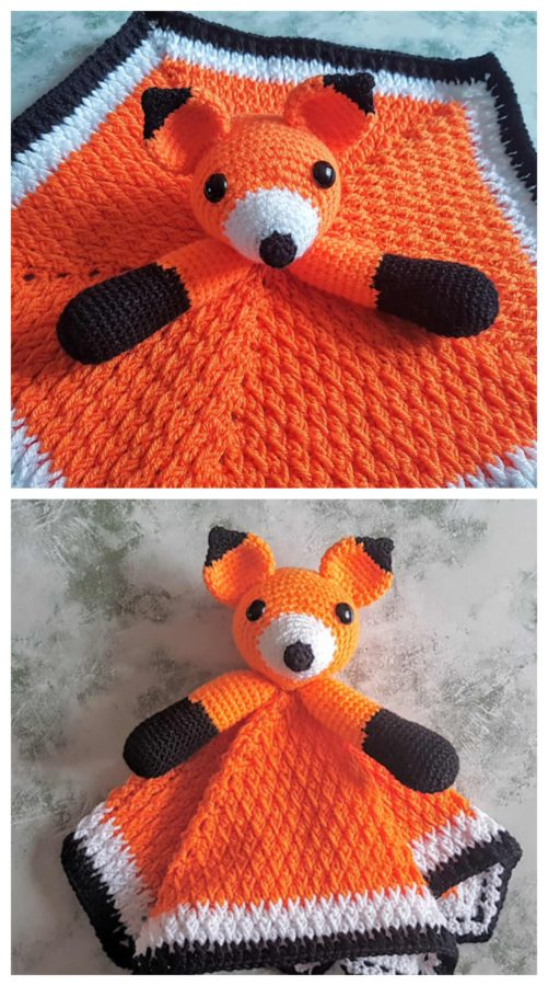 Crochet Fox Security Blanket - Free Pattern